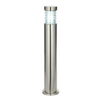 Endon Equinox outdoor bollard IP44 23W Marine grade brushed stainless steel