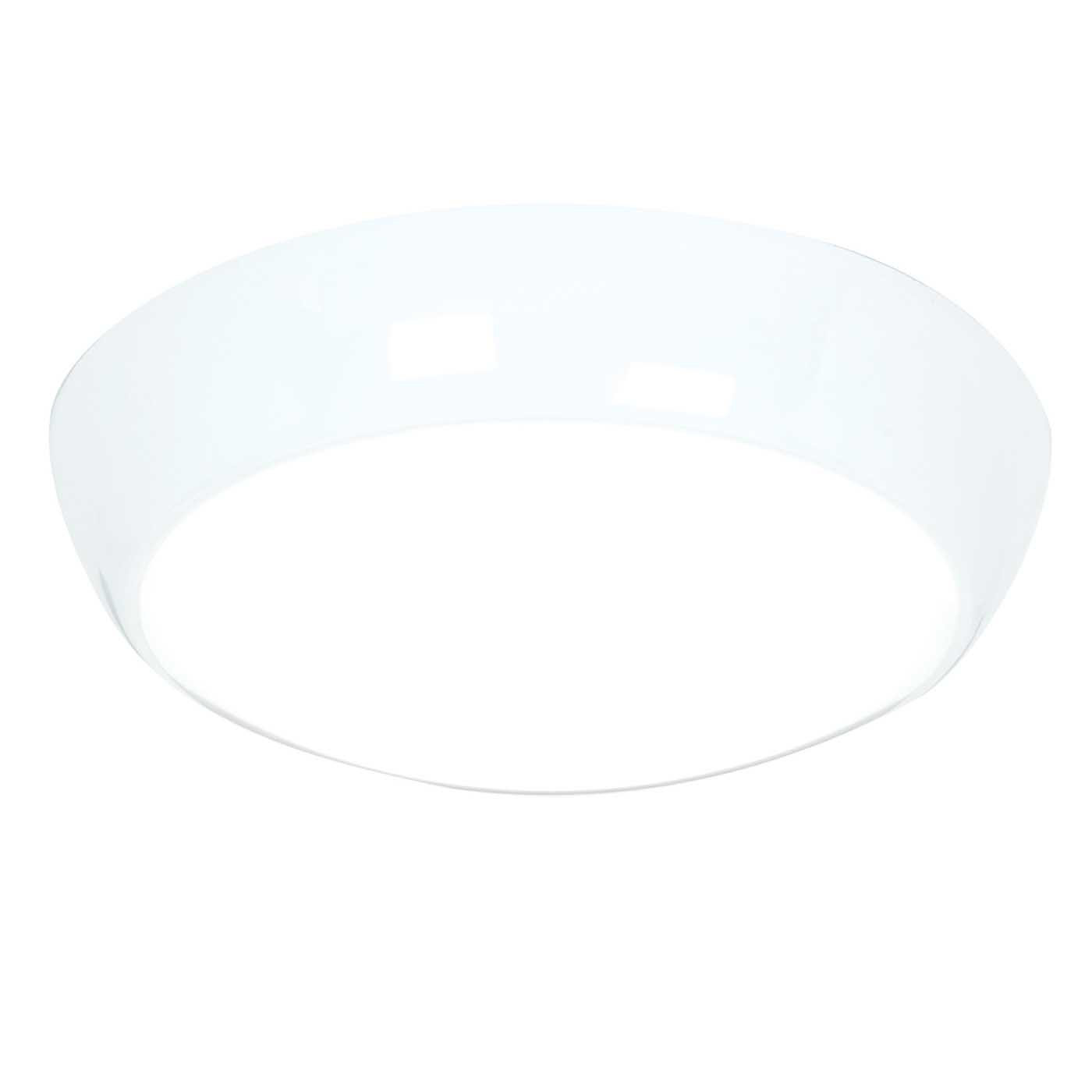 Saxby Vigor LED Indoor Flush Function Light IP44 16W LED (SMD 5630) Cool White Thumbnail 1