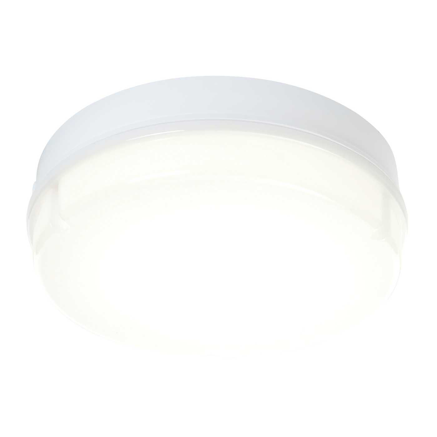Saxby Neptune Microwave Indoor Flush Function Light Opal IP65 16W LED (SMD 5630) Thumbnail 1