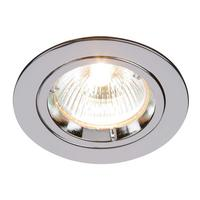Saxby Cast Indoor Recessed Fixed Light Chrome Effect 50W GU10 Reflector