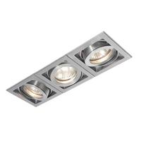 Saxby Xeno Indoor Recessed Tilt Light Aluminium Triple 3x50W GU10 Reflector