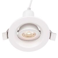 Saxby Defender Indoor Recessed Tilt Light White 5W LED (COB) Cool White