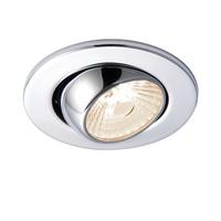 Saxby ShieldLED Indoor Recessed Eyeball Light Chr Effect 800 10W COB Warm White