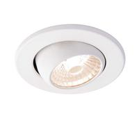 Saxby ShieldLED Indoor Recessed Eyeball Light Matt White 10W LED COB Warm White