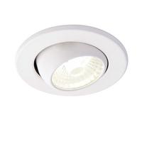 Saxby ShieldLED Indoor Recessed Eyeball Light Matt White 10W LED COB Cool White