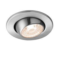 Saxby ShieldLED Indoor Recessed Eyeball Light Satin Nickel 10W (COB) Warm White