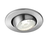 Saxby ShieldLED Indoor Recessed Eyeball Light Satin Nickel 10W COB Cool White
