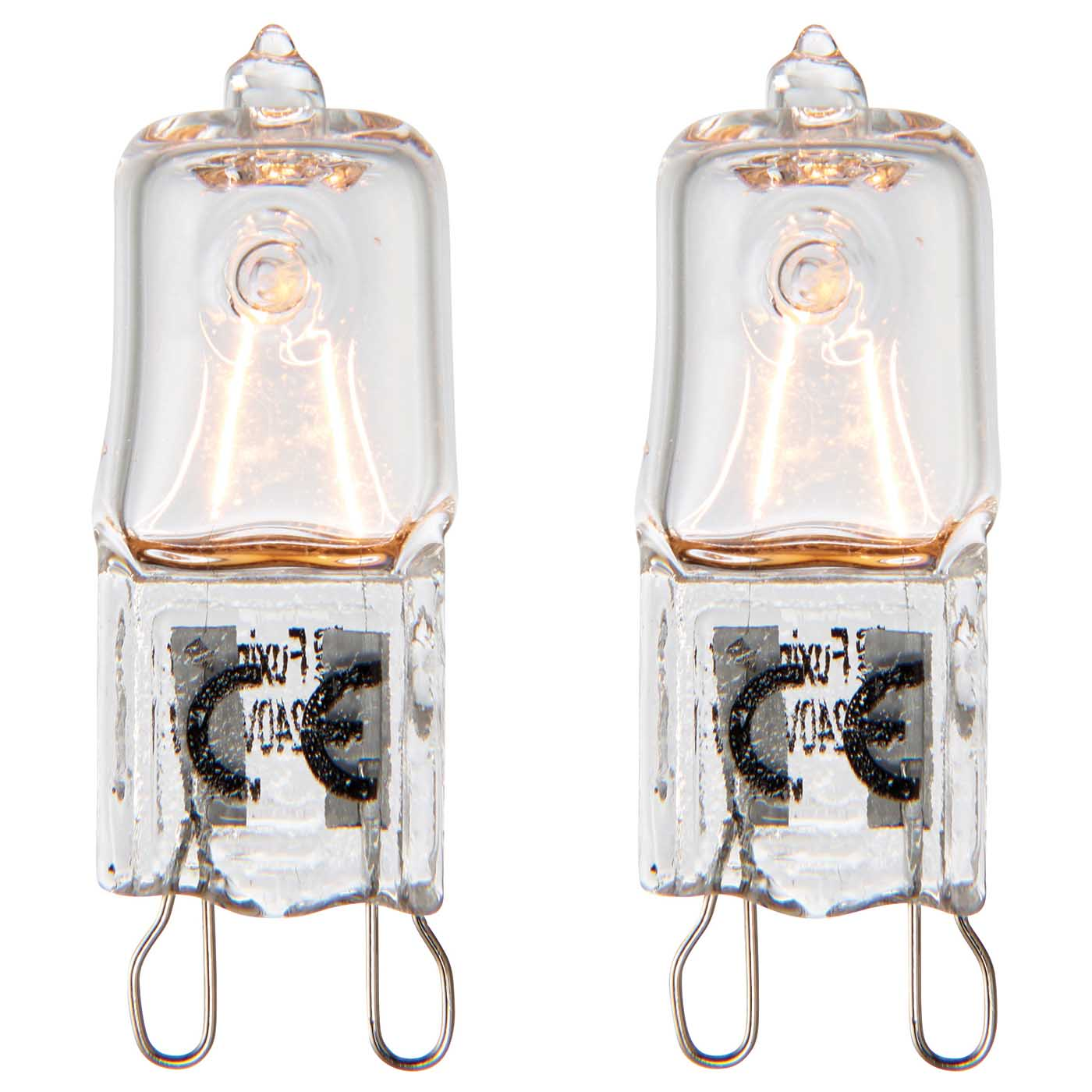 Saxby G9 eco halogen capsule light bulb dimmable twin pack 18W warm white 3000K