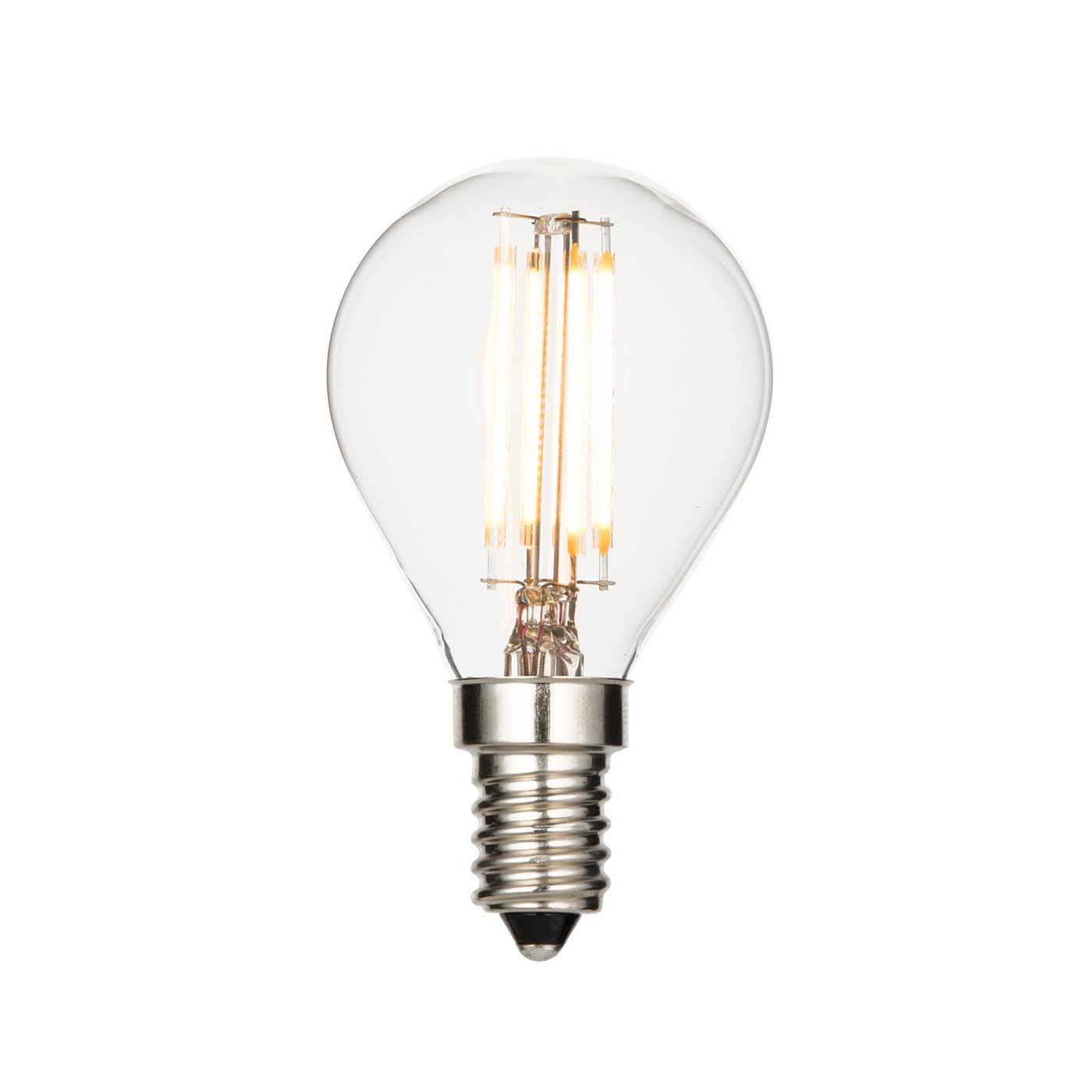 saxby e14 led light bulb filament golf 4w warm white 2700k liminaires. Black Bedroom Furniture Sets. Home Design Ideas