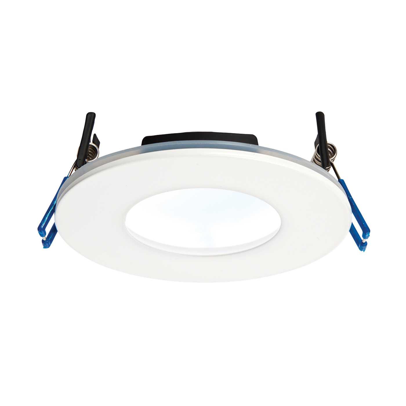 saxby orbitalplus bathroom recessed fixed light ip65 9w led