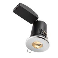 Saxby Shieldplus MV Bathroom Recessed Fixed Light Chr Effect IP65 4W Warm White