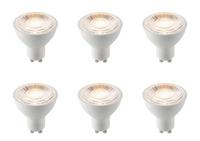 6 x Saxby GU10 LED light bulb SMD 7W warm white 3000K
