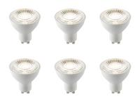 6 x Saxby GU10 LED light bulb SMD 7W cool white 4000K