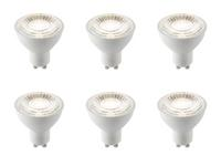 6 x Saxby GU10 LED light bulb SMD dimmable 7W cool white 4000K