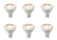 6 x Saxby GU10 LED light bulb SMD 60 degrees 7W warm white 3000K