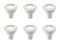 6 x Saxby GU10 LED light bulb SMD 60 degrees 7W cool white 4000K
