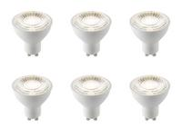 6 x Saxby GU10 LED light bulb SMD dimmable 60 degrees 7W