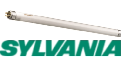 "Sylvania branded 6W T5 fluorescent tube warm white 9"" 226mm"