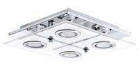 Eglo Cabo GU10-LED 4X3W Ceiling Lamp Stainless Steel Chrome IP20 220-240V