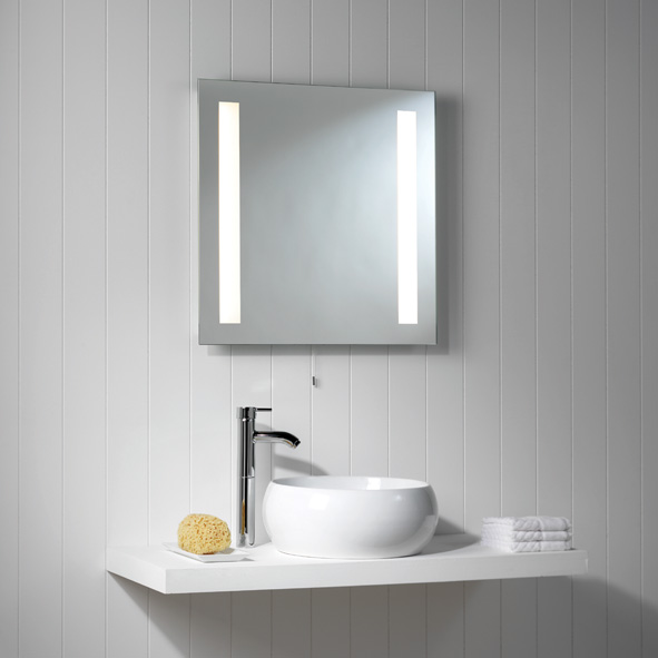 Astro Galaxy 0440 illuminated bathroom square mirror light 60 cm x 60 cm Thumbnail 1