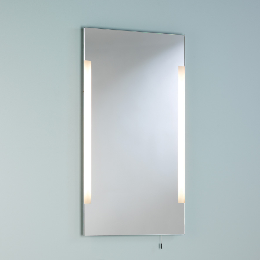 Astro Imola 800 0406 illuminated mirror with pull cord 2 x 14W T5 Thumbnail 1
