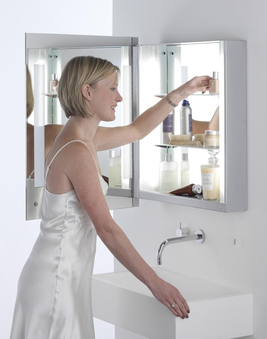 Astro Livorno Shaver 0637 Illuminated Mirror Cabinet