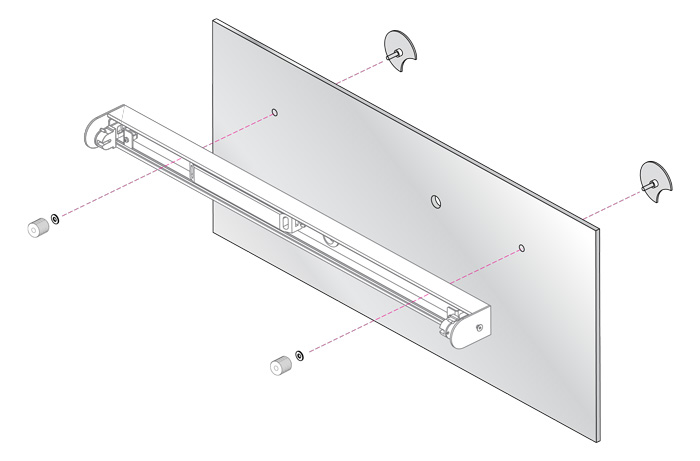 ASTRO 0992  Mirror Mounting Kit for bathroom wall light x2 polished chrome