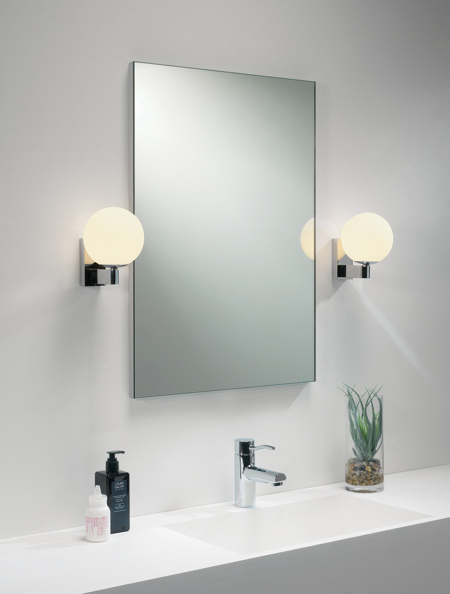bathroom light globes. ASTRO Sagara 0774 Globe Bathroom Wall Light 1 X 40W G9 IP44 Polished Chrome Thumbnail 2 Globes