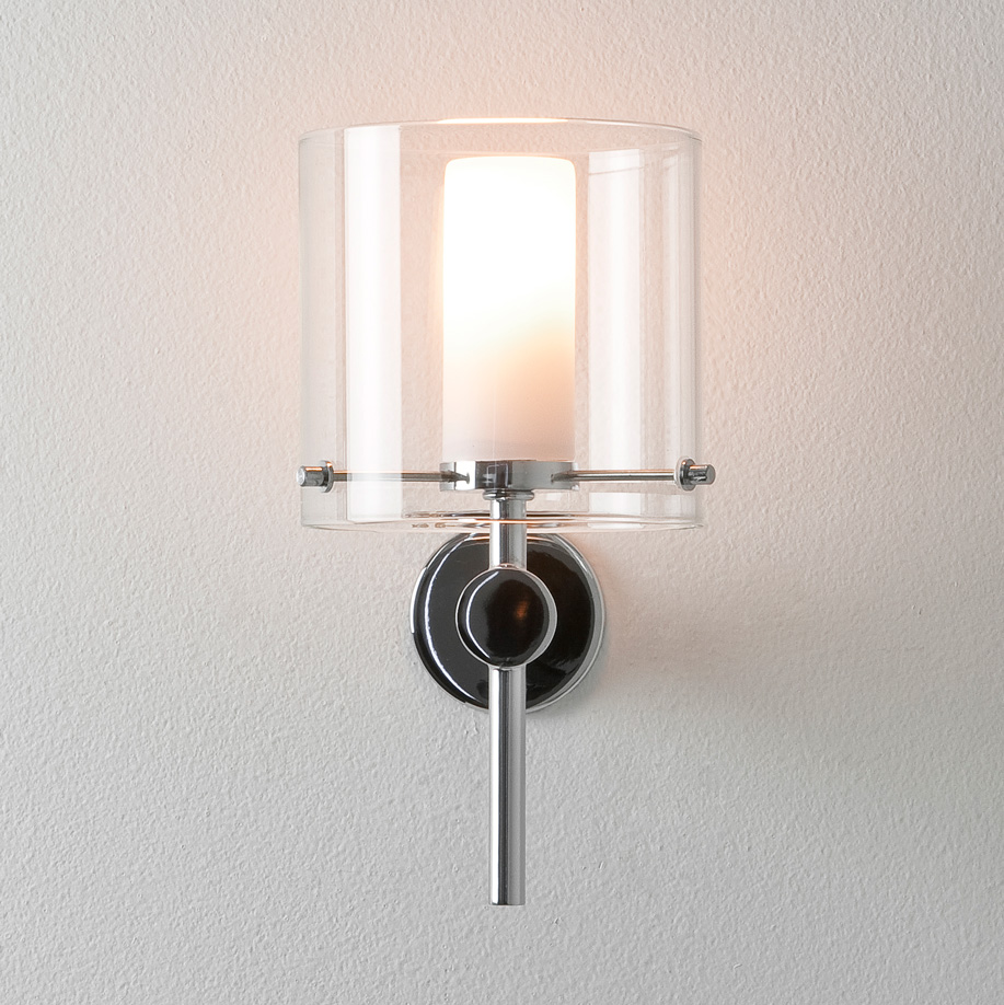 ASTRO Arrezzo 0342 Bathroom wall light 1 x 28W G9 lamp IP44 Chrome Glass shade Thumbnail 3