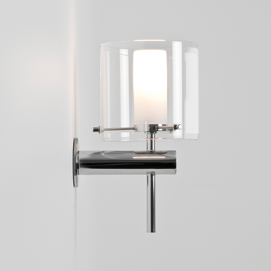 ASTRO Arrezzo 0342 Bathroom wall light 1 x 28W G9 lamp IP44 Chrome Glass shade Thumbnail 2