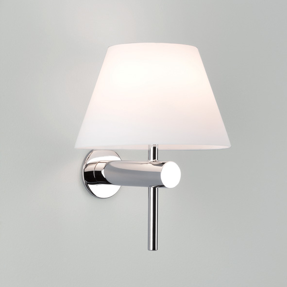 ASTRO ROMA 0343 bathroom wall light 1 x 28W G9 IP44 Polished chrome glass shade Thumbnail 1