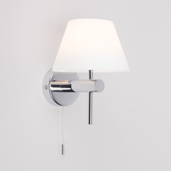 ASTRO ROMA 0434 bathroom pull switch glass wall light 1 x 28W G9 IP44 chrome Thumbnail 1