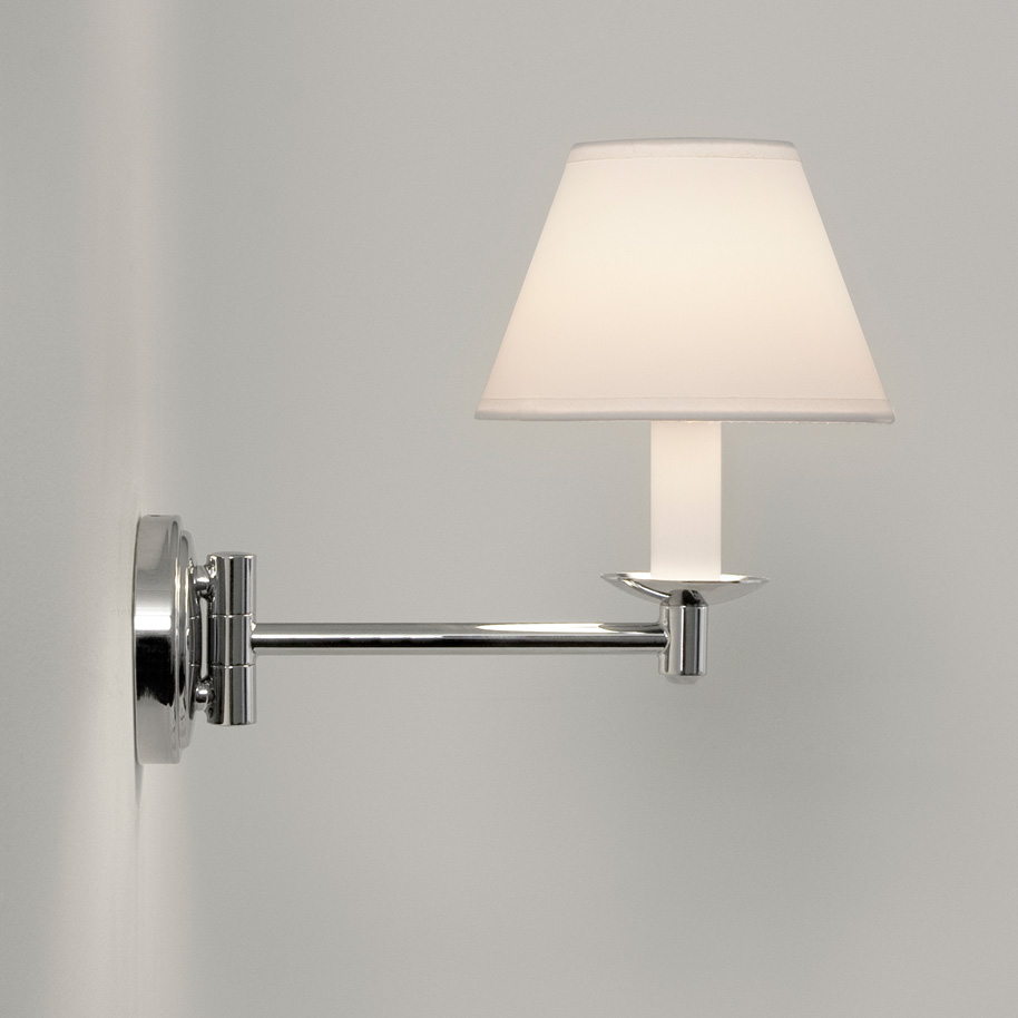 ASTRO Grosvenor 0511 Swing arm bathroom wall light 1 x 28W G9 IP44 PVC shade Thumbnail 2