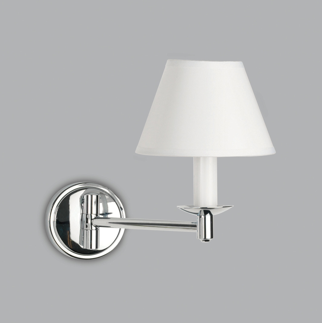 ASTRO Grosvenor 0511 Swing arm bathroom wall light 1 x 28W G9 IP44 PVC shade Thumbnail 1