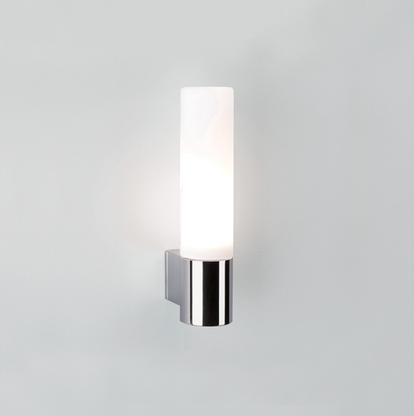 ASTRO Bari 0340 cylindrical bathroom wall light 1 x 33W G9 lamp IP44 chrome Thumbnail 1
