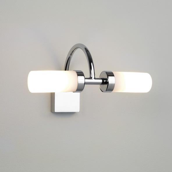 Bathroom Mirror Lamp astro varese 0352 cylindrical bathroom mirror wall light 2 x 25w