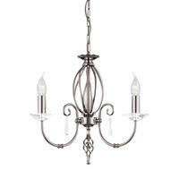 Elstead Aegean 3lt Chandelier Polished Nickel 3 x 60W E14 220-240v 50hz Class I