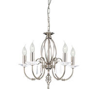 Elstead Aegean 5lt Chandelier Polished Nickel 5 x 60W E14 220-240v 50hz Class I
