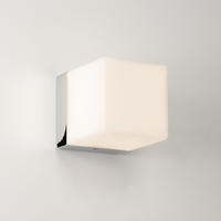 ASTRO Cube 0635 cube bathroom mirror wall light 1 x 40W G9 IP44 polished chrome