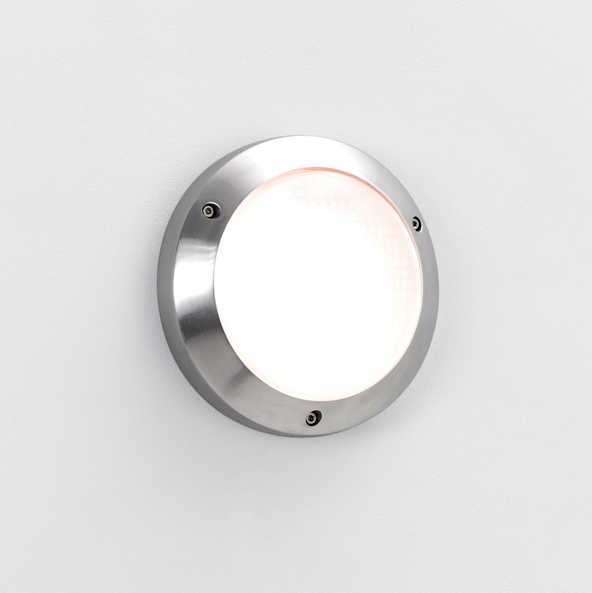 ASTRO Toronto Plus 170 0604 round bathroom wall light 1 X 9W GX53 lamp aluminium Thumbnail 1
