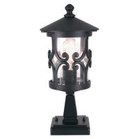 Elstead Hereford Pedestal Lantern 1 x 100W E27 220-240v 50hz IP23 Class I