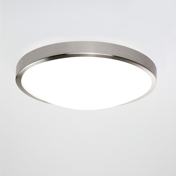 Astro Osaka 0906 round  bathroom low energy ceiling wall light 28W matt nickel Thumbnail 1