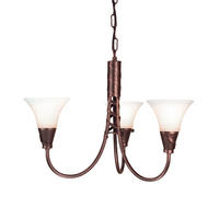 Elstead Emily 3lt Chandelier Copper 3 x 60W E14 220-240v 50hz Class I