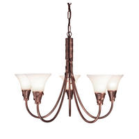 Elstead Emily 5lt Chandelier Copper 5 x 60W E14 220-240v 50hz Class I