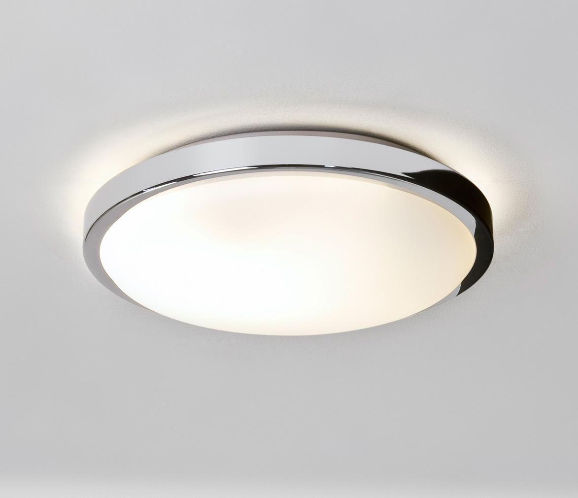 ASTRO Denia 0587 round bathroom ceiling light 2 x 40W E14 candle lamp Chrome Thumbnail 1