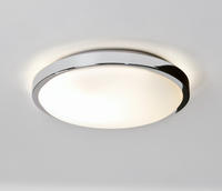 ASTRO Denia 0587 round bathroom ceiling light 2 x 40W E14 candle lamp Chrome