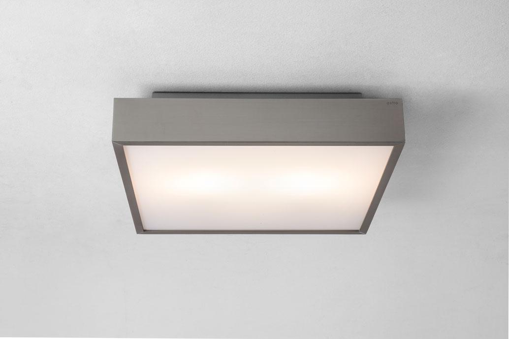 Astro taketa plus 0934 square bathroom ceiling light 28w ip44 matt nickel finish ebay - Plafoniere bagno ikea ...