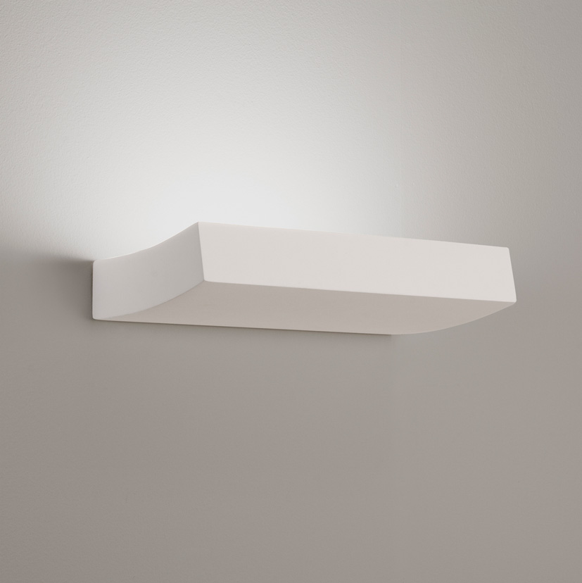 Astro Naxos Plus 0954 discrete wall light uplight 18W 2G11 IP20 plaster finish Thumbnail 1
