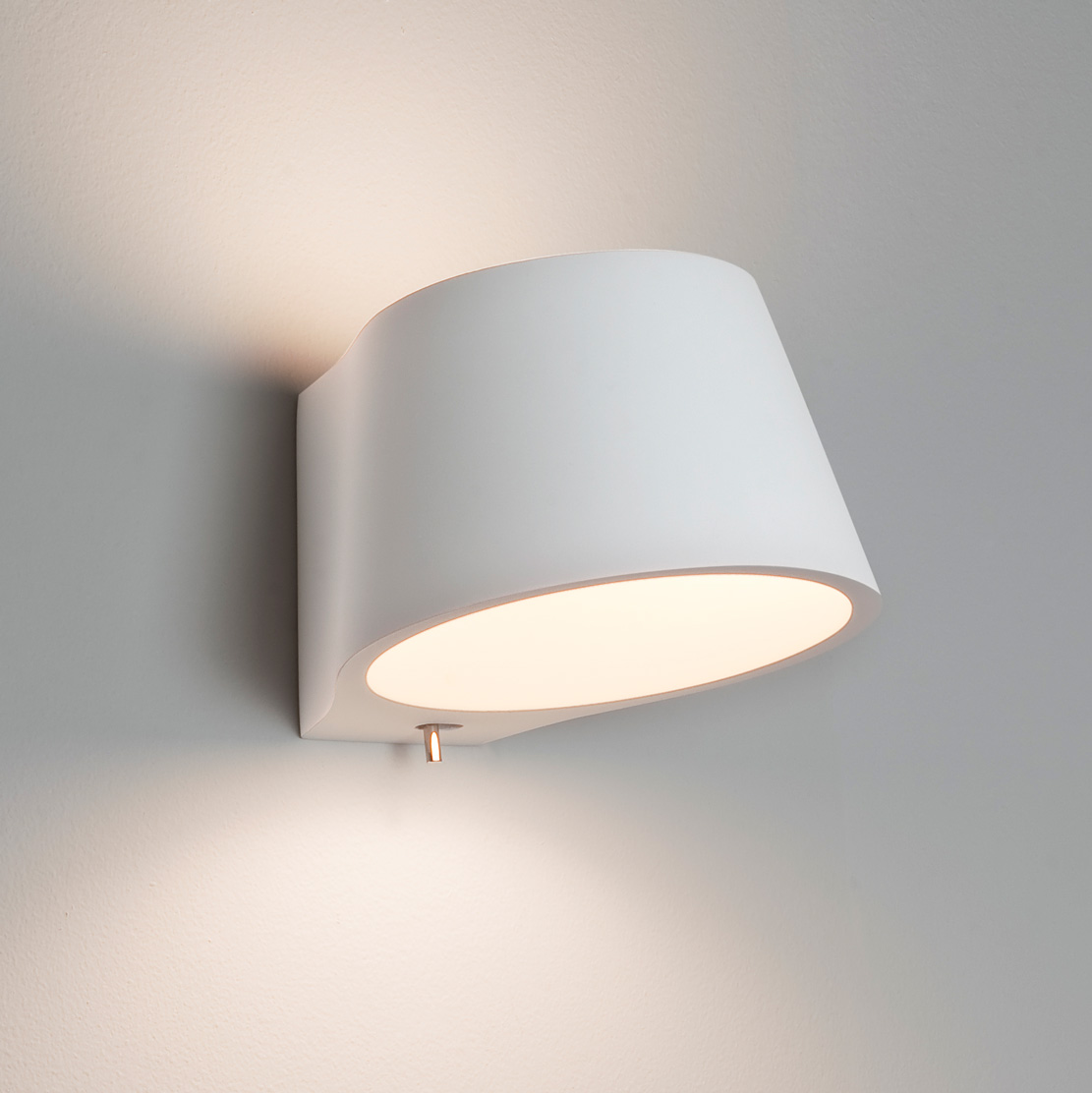 Switched Plaster Wall Lights : Astro Koza 0695 dimmable switched wall light 1x60W E14 lamp IP20 white plaster Liminaires
