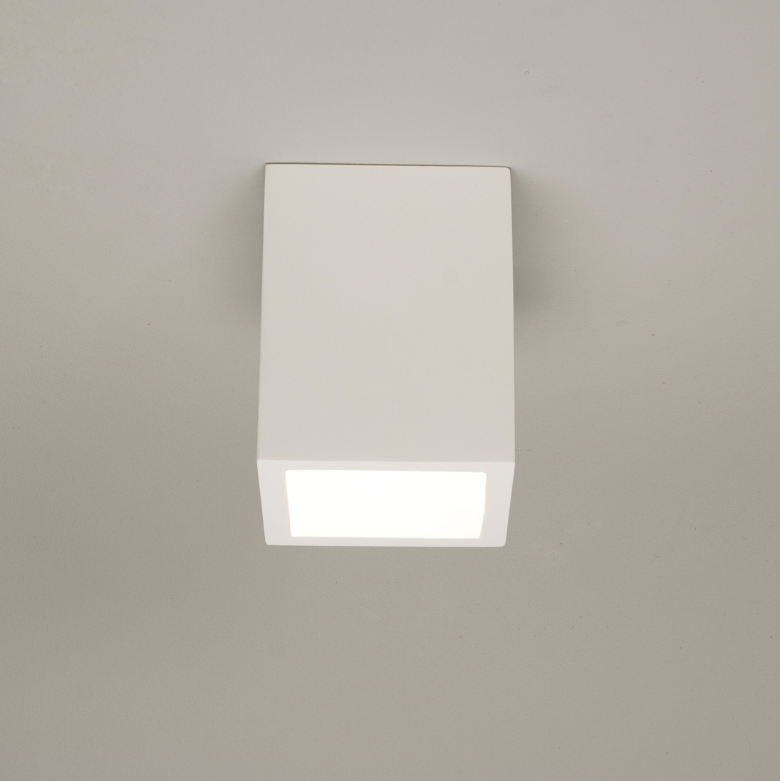 Astro osca 140 square surface plaster ceiling light 13w gu10 cfl led astro osca 140 square surface plaster ceiling light 13w gu10 cfl led lamp white aloadofball Image collections